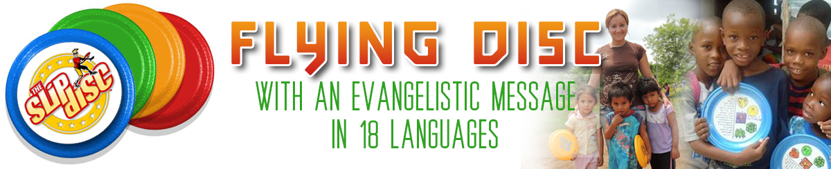 Evangelistic Flying Disc